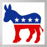 Poster del burro de Demócrata