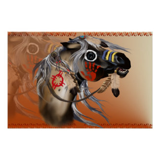 Poster del caballo de guerra póster
