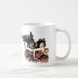 Poster del caballo de la época de la belleza del taza clásica
