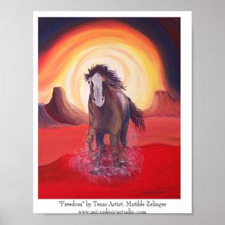 """Poster del caballo de la """"libertad """""""