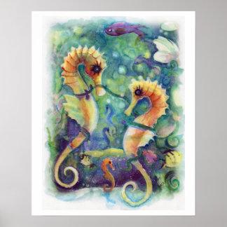 Poster del caballo de mar
