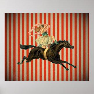 poster del caballo de montar a caballo del