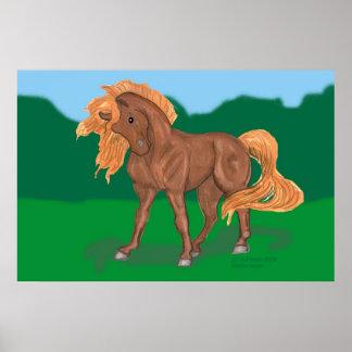 Poster del caballo de Morgan