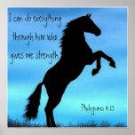 poster del caballo del 4:13 de los filipenses del