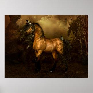 Poster del caballo del ante de Shikoba
