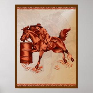 Poster del caballo del barril