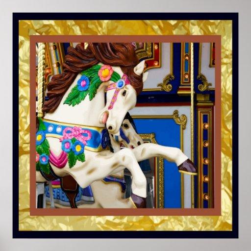 Poster del caballo del carrusel