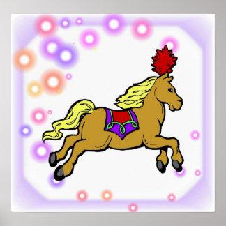 Poster del caballo del circo póster