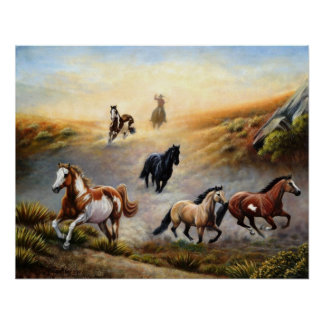 Poster del caballo - desierto pintado