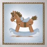 Poster del caballo mecedora