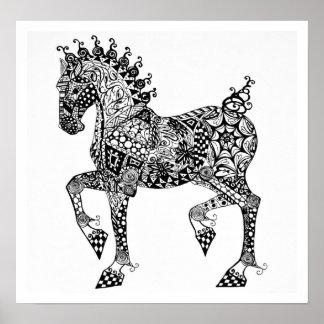 Poster del caballo - potro de Clydesdale - enredo