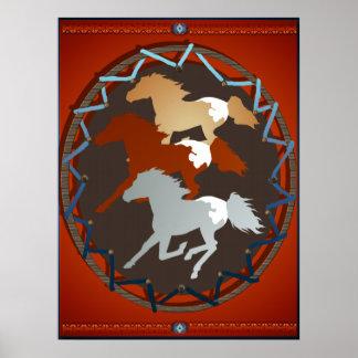 Poster del caballo y del escudo