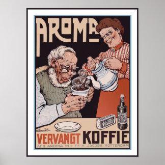 Poster del café: Aroma Vergangt Koffie - Póster