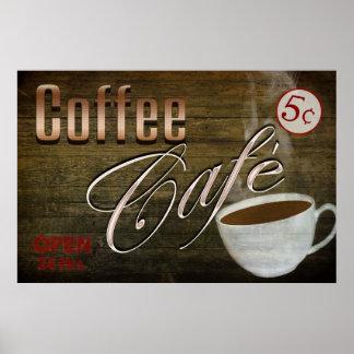 POSTER DEL CAFÉ CAFE DEL VINTAGE