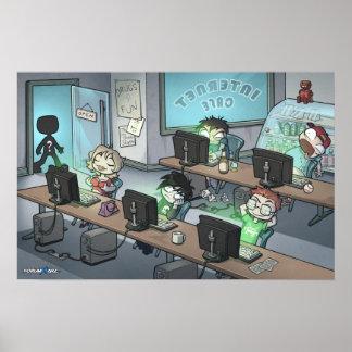 Poster del café de Internet de Forumwarz Póster