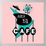 Poster del café del área 51