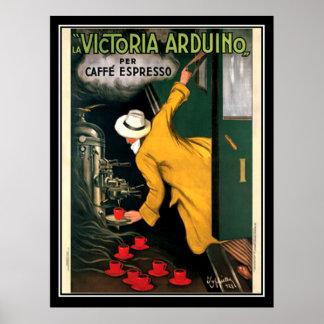 Poster del café del café express circa 1922