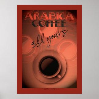 Poster del café del estilo del art déco