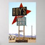 Poster del café del motel de Roy