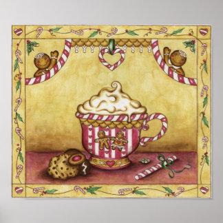 Poster del café del pan de jengibre