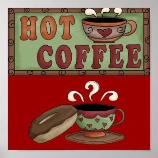 Poster del café y del buñuelo