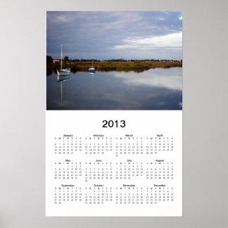 Poster del calendario de los barcos de vela 2013