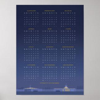 Poster del calendario de los mediados de siglo 201