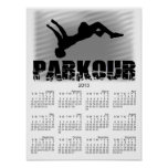 Poster del calendario del atleta 2013 de Parkour