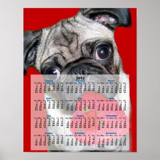 Poster del calendario del barro amasado 2012 del e