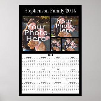 Poster del calendario del collage de la foto de 20