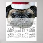 Poster del calendario del perro 2013 del barro ama