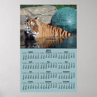 Poster del calendario del tigre de Bengala 2011