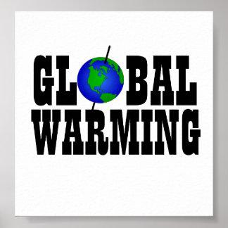 Poster del calentamiento del planeta