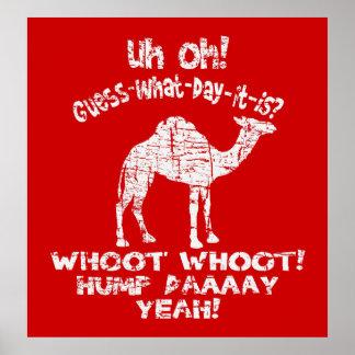 Poster del camello del día de chepa del vintage