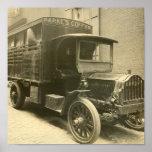 Poster del camión del café