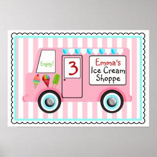Poster del camión del helado