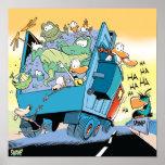 Poster del camión volquete del pantano