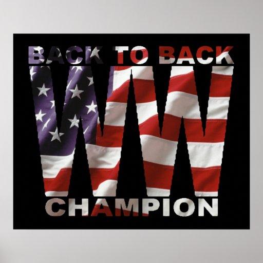 Poster del campeón de la guerra mundial de la band
