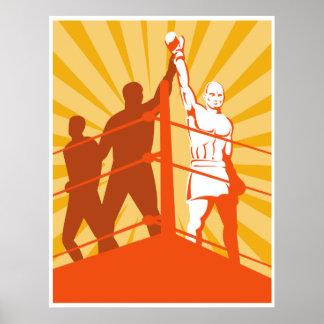 poster del campeonato del combatiente del boxeador