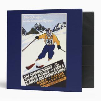 Poster del campeonato del esquí del dominio