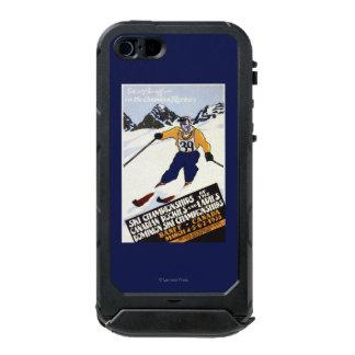 Poster del campeonato del esquí del dominio funda para iPhone 5 incipio ATLAS ID