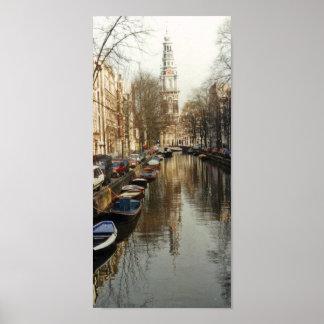 Poster del canal de Amsterdam