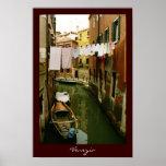Poster del canal de Venecia del lavadero