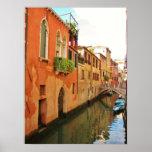 Poster del canal de Venecia Póster