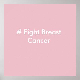 # poster del cáncer de pecho de la lucha