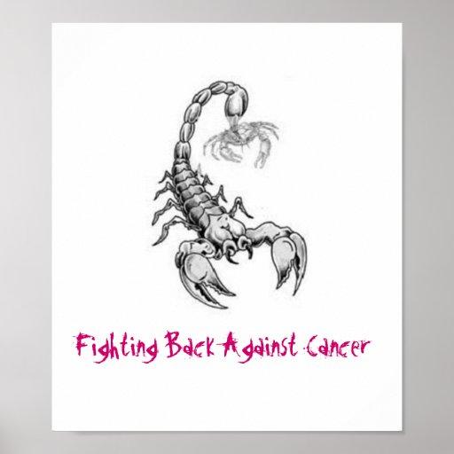 Poster del cáncer del escorpión que lucha
