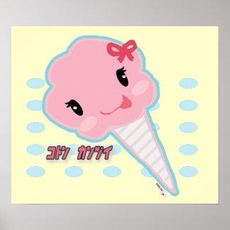 Poster del caramelo de algodón