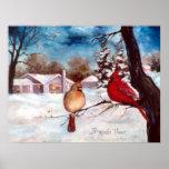 Poster del cardenal de la serenidad de los inviern