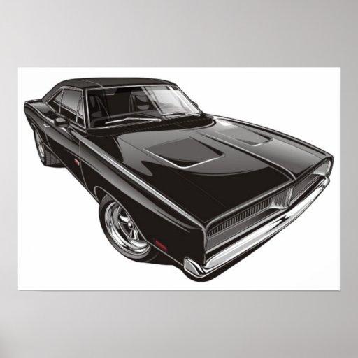 Poster del cargador de 1969 Dodge