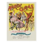 Poster del carnaval del vintage postales
